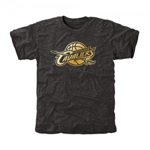 NBA T-Shirt De Cleveland Cavaliers Homme Noir Gold Collection Tri-Blend