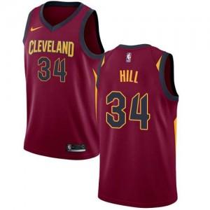 Nike Maillots De Basket Hill Cavaliers Marron Homme No.34 Icon Edition