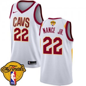 Maillots De Nance Jr. Cleveland Cavaliers Enfant No.22 Blanc Nike 2018 Finals Bound Association Edition