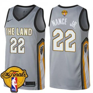 Maillots Nance Jr. Cleveland Cavaliers Nike Enfant Gris No.22 2018 Finals Bound City Edition