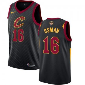 Nike NBA Maillot Cedi Osman Cleveland Cavaliers 2018 Finals Bound Statement Edition Noir Homme #16
