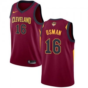 Nike NBA Maillots Basket Cedi Osman Cavaliers Marron 2018 Finals Bound Icon Edition #16 Enfant