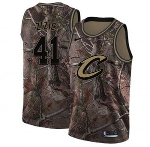 Nike NBA Maillots Zizic Cleveland Cavaliers Enfant Realtree Collection No.41 Camouflage