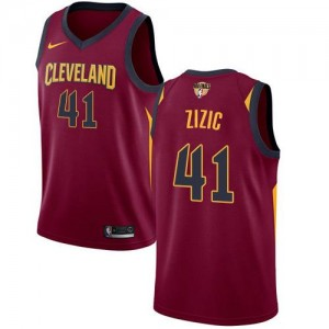 Maillot Basket Zizic Cleveland Cavaliers Marron 2018 Finals Bound Icon Edition No.41 Enfant Nike