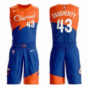 Nike Maillots Brad Daugherty Cavaliers Suit City Edition No.43 Homme Bleu