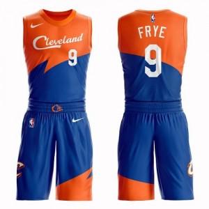 Maillots Basket Frye Cleveland Cavaliers Enfant Bleu Suit City Edition #9 Nike