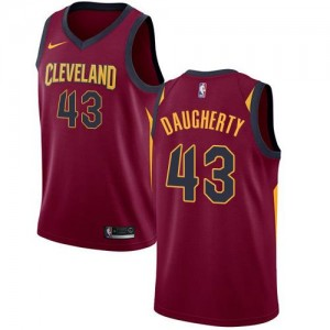 Maillot Basket Brad Daugherty Cavaliers No.43 Marron Homme Icon Edition Nike