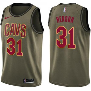 Nike Maillots Basket Henson Cavaliers vert No.31 Enfant Salute to Service