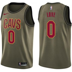 Nike Maillot Love Cavaliers vert #0 Homme Salute to Service