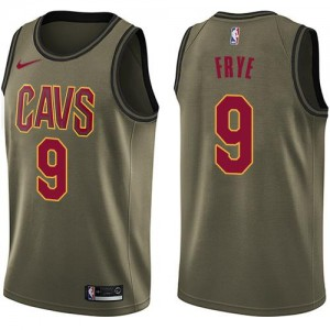 Maillots Basket Channing Frye Cleveland Cavaliers Salute to Service Nike No.9 Enfant vert