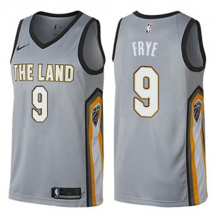 Nike Maillot De Channing Frye Cavaliers No.9 City Edition Homme Gris
