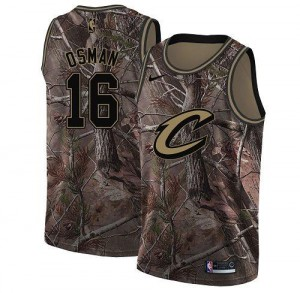 Nike Maillots De Basket Osman Cavaliers No.16 Realtree Collection Homme Camouflage