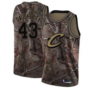 Nike NBA Maillots Basket Brad Daugherty Cavaliers Camouflage Homme #43 Realtree Collection