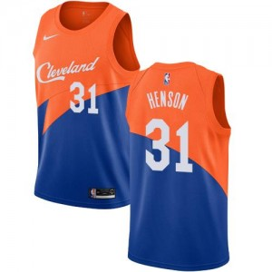 Nike NBA Maillot Basket Henson Cleveland Cavaliers Bleu No.31 Homme City Edition