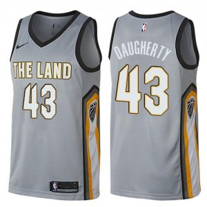 Maillots Basket Daugherty Cavaliers City Edition Nike Homme No.43 Gris