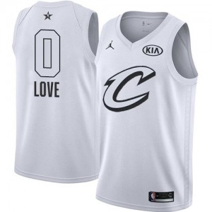 Jordan Brand NBA Maillot Kevin Love Cleveland Cavaliers Blanc 2018 All-Star Game Enfant #0