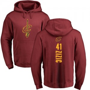Nike NBA Sweat à capuche De Zizic Cleveland Cavaliers Homme & Enfant Marron Backer #41 Pullover