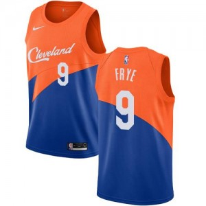 Maillot Basket Channing Frye Cavaliers City Edition Nike No.9 Homme Bleu