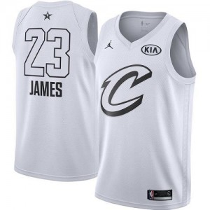 Jordan Brand Maillot De Basket James Cavaliers Blanc Enfant 2018 All-Star Game #23