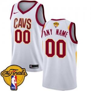 Nike NBA Personnalise Maillot De Cavaliers 2018 Finals Bound Association Edition Homme Blanc