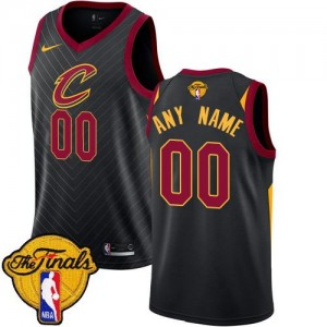 Nike NBA Personnalise Maillot Basket Cleveland Cavaliers 2018 Finals Bound Statement Edition Homme Noir