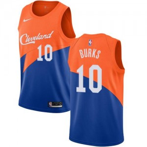 Nike NBA Maillot Basket Alec Burks Cleveland Cavaliers Bleu City Edition #10 Homme