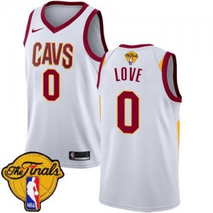 Nike Maillot Kevin Love Cavaliers No.0 Enfant 2018 Finals Bound Association Edition Blanc