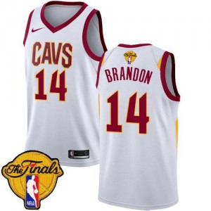 Nike Maillots Basket Terrell Brandon Cleveland Cavaliers Enfant Blanc 2018 Finals Bound Association Edition #14