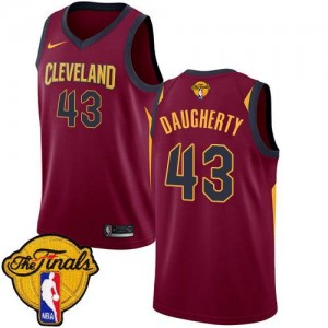 Nike NBA Maillot De Daugherty Cleveland Cavaliers 2018 Finals Bound Icon Edition Homme Marron #43