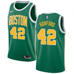Nike NBA Maillots Basket Horford Boston Celtics vert Homme No.42 Earned Edition