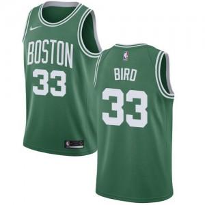 Nike Maillots De Bird Celtics #33 vert Homme Icon Edition