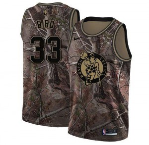 Nike NBA Maillots Basket Bird Celtics Realtree Collection Homme Camouflage No.33