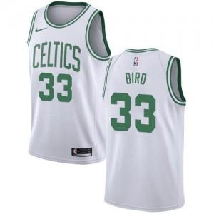 Nike Maillots Basket Larry Bird Boston Celtics No.33 Enfant Blanc Association Edition