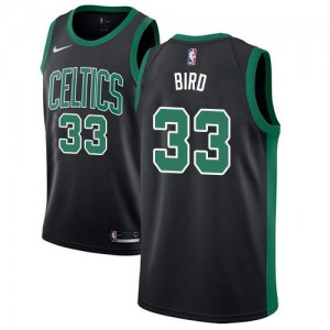 Maillot De Basket Larry Bird Boston Celtics Noir Nike Statement Edition #33 Enfant