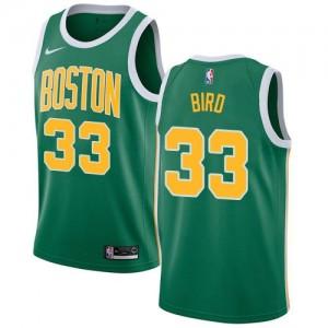 Nike NBA Maillots De Bird Boston Celtics Earned Edition No.33 Homme vert