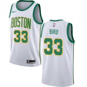 Nike Maillots Basket Bird Celtics Blanc No.33 City Edition Enfant