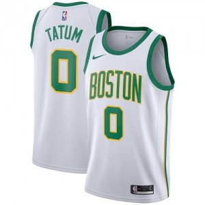 Maillots De Basket Jayson Tatum Celtics Blanc Nike City Edition #0 Homme
