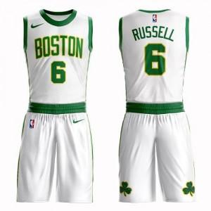 Nike Maillots De Basket Bill Russell Boston Celtics No.6 Enfant Blanc Suit City Edition