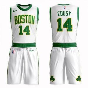 Nike Maillot De Cousy Celtics No.14 Suit City Edition Homme Blanc