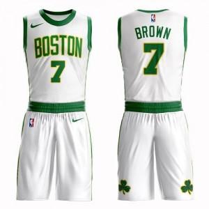 Nike NBA Maillot Jaylen Brown Boston Celtics #7 Suit City Edition Blanc Homme
