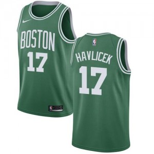 Maillot John Havlicek Boston Celtics No.17 vert Nike Homme Icon Edition