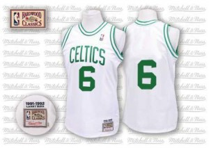 Mitchell and Ness NBA Maillots Basket Bill Russell Celtics Blanc Homme Throwback No.6