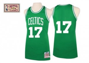 Maillot De Basket Havlicek Celtics vert No.17 Mitchell and Ness Throwback Homme