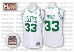 Mitchell and Ness NBA Maillot Basket Bird Boston Celtics Homme Throwback #33 Blanc