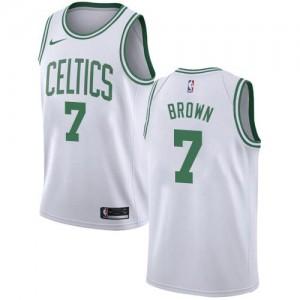 Nike Maillots Brown Boston Celtics Association Edition Homme #7 Blanc