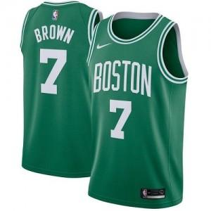 Nike NBA Maillots Basket Jaylen Brown Boston Celtics Homme Icon Edition #7 vert