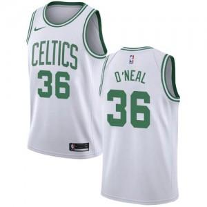 Nike NBA Maillots Basket Shaquille O'Neal Boston Celtics #36 Blanc Association Edition Enfant
