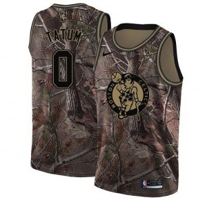 Nike NBA Maillots De Basket Jayson Tatum Celtics No.0 Realtree Collection Camouflage Enfant