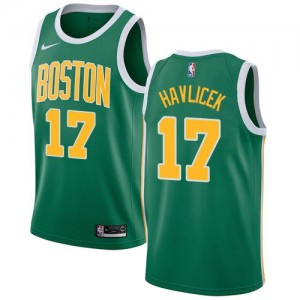 Maillot Havlicek Boston Celtics Earned Edition Homme Nike No.17 vert
