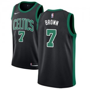 Nike NBA Maillots Basket Brown Boston Celtics Statement Edition #7 Enfant Noir